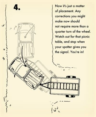 Diagram 4 of 4: Shows how to make adjustments once you have your truck and camper on the camp site.